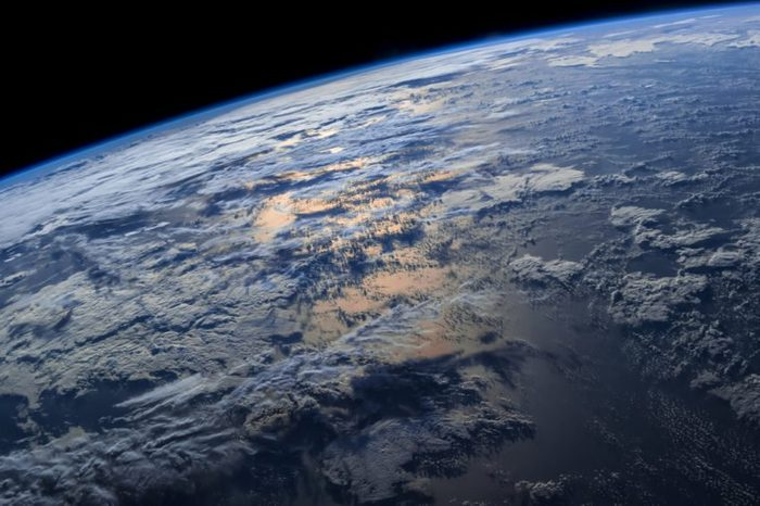 """Earth from space with dramatic view. """"The elements of this image furnished by NASA"""""""