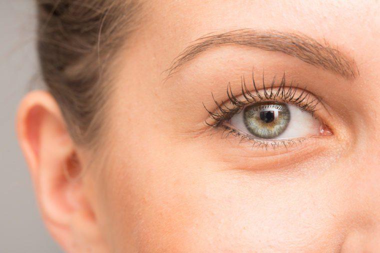Gorgeous girl close up of eye