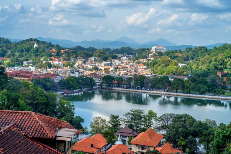Beautiful view of Kandy in Sri Lanka