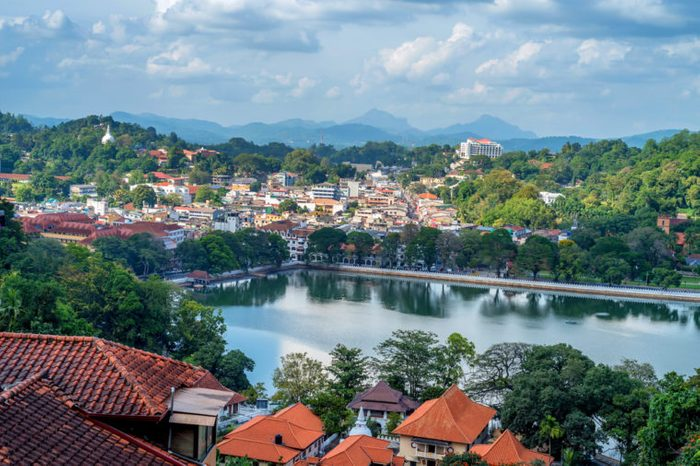 Beautiful view of Kandy in Sri Lanka