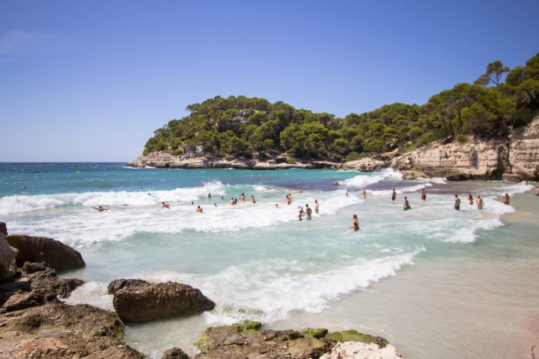 Cala Mitjana on balearic island Menorca, Spain