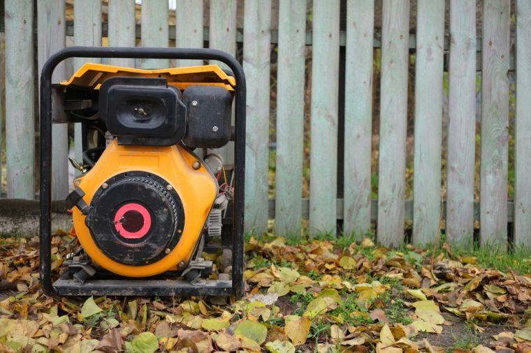 Electric diesel generator for emergency power.