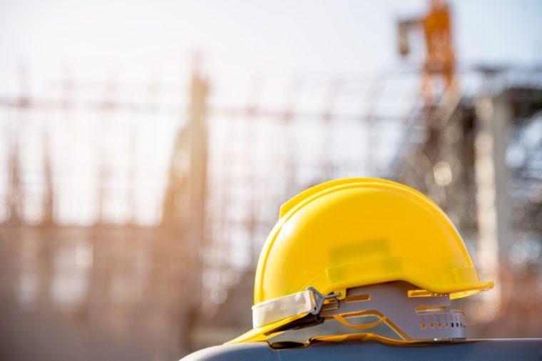 helmet in construction site