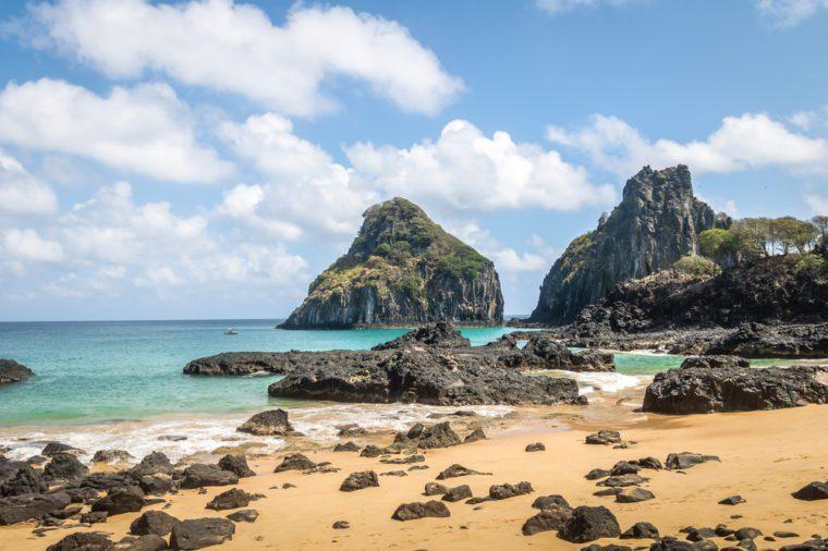 Baia dos Porcos Beach and Morro Dois Irmaos - Fernando de Noronh