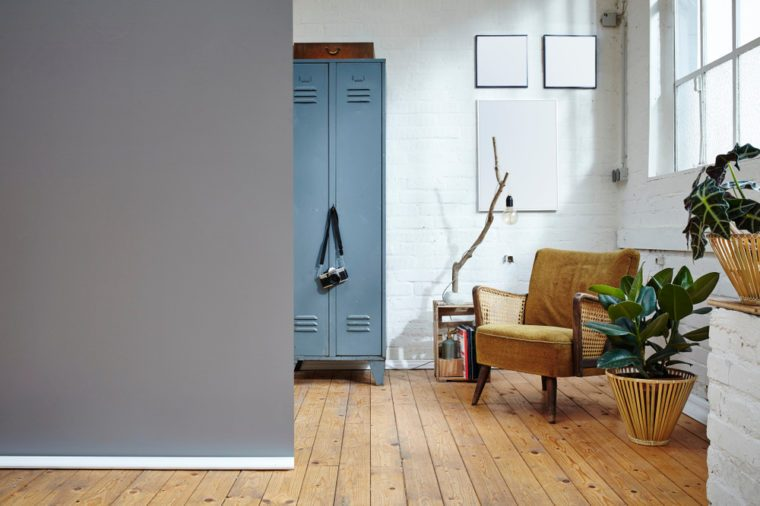 two rooms in industrial loft urban decoration and furniture