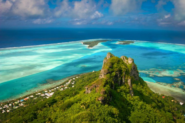 View on the peak mountain, Maupiti, French Polynesia, Society Islands