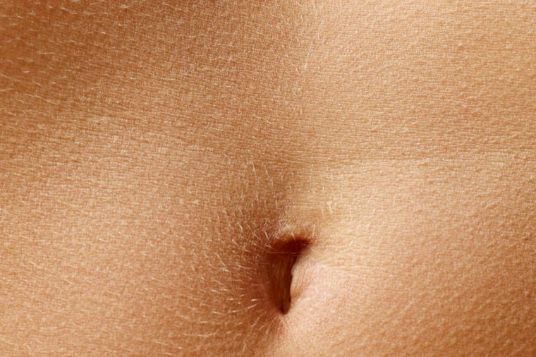 Close up stomach of woman, closeup background