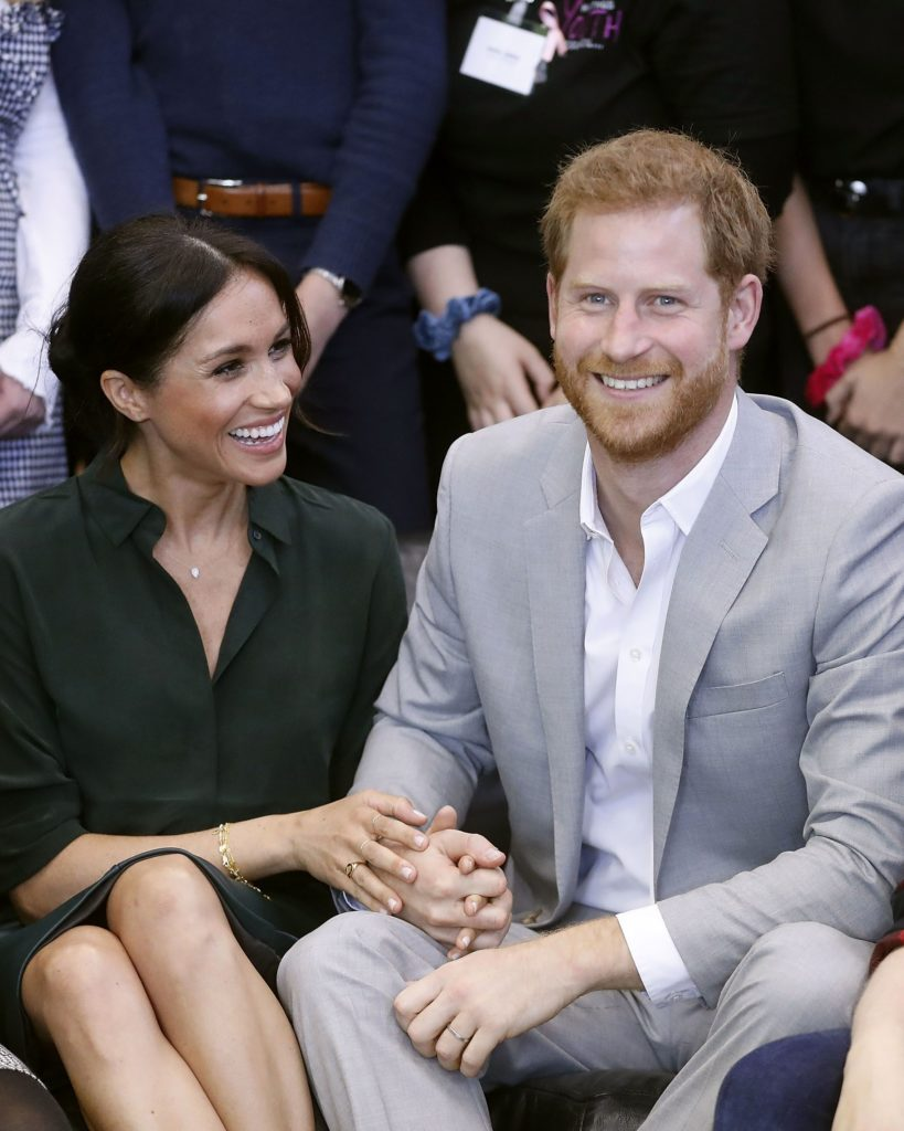 Meghan Duchess of Sussex and Prince Harry make a