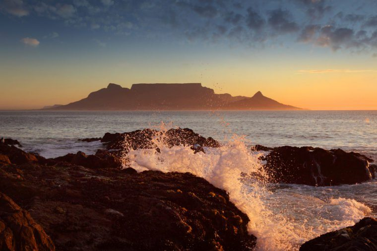 Table Mountain, sunset, Cape Town