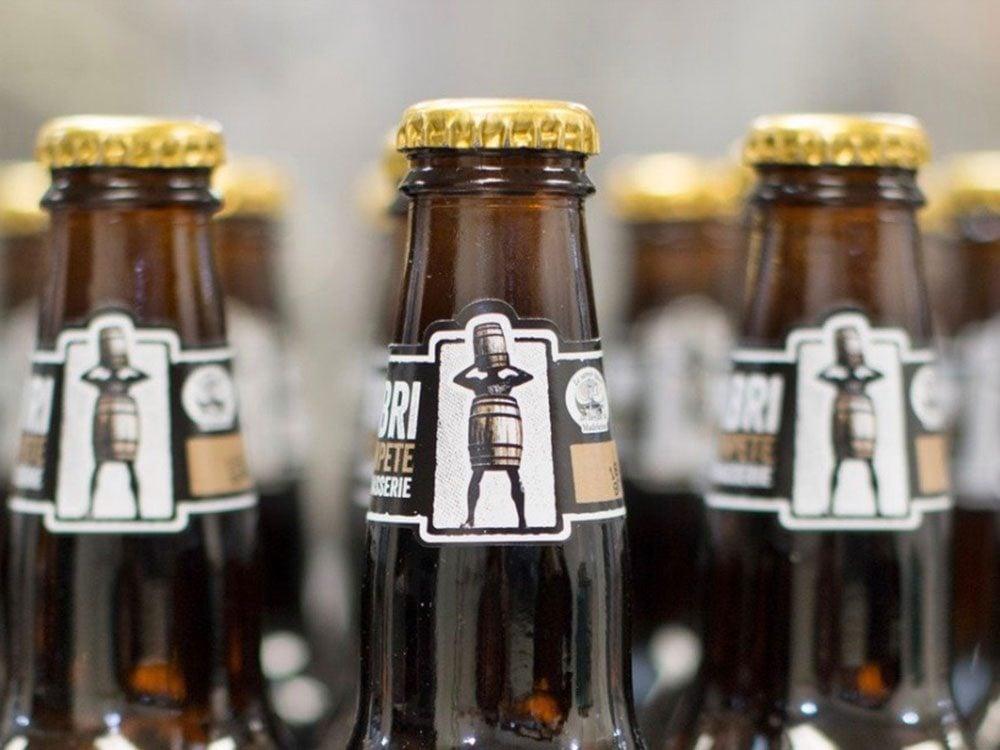 Close-up of beer bottle