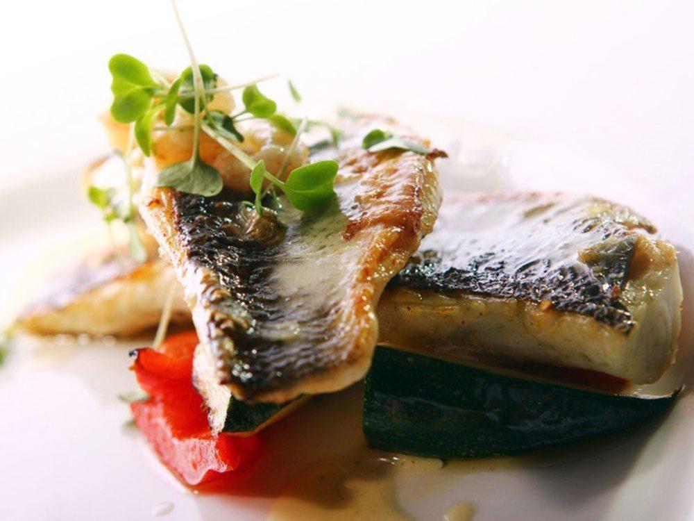 Smoked herrings dish