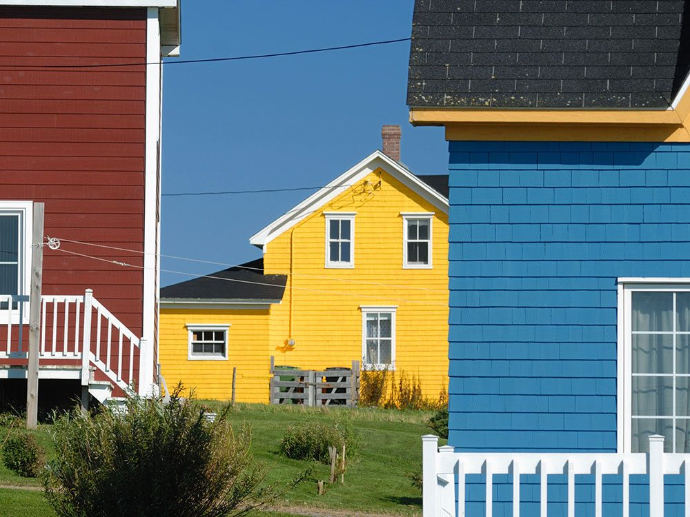 Colourful houses in The Magdalen Islands