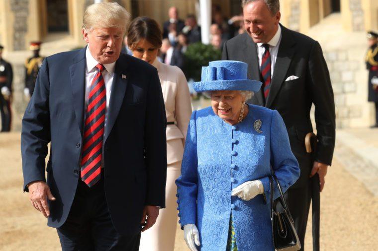 Donald Trump and Queen Elizabeth