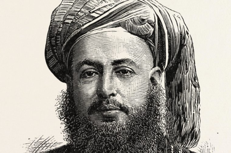 Bargash Bin Said, G.c.m.g., Sultan Of Zanzibar, 1888 Engraving.