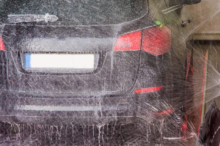 Wash in a car wash