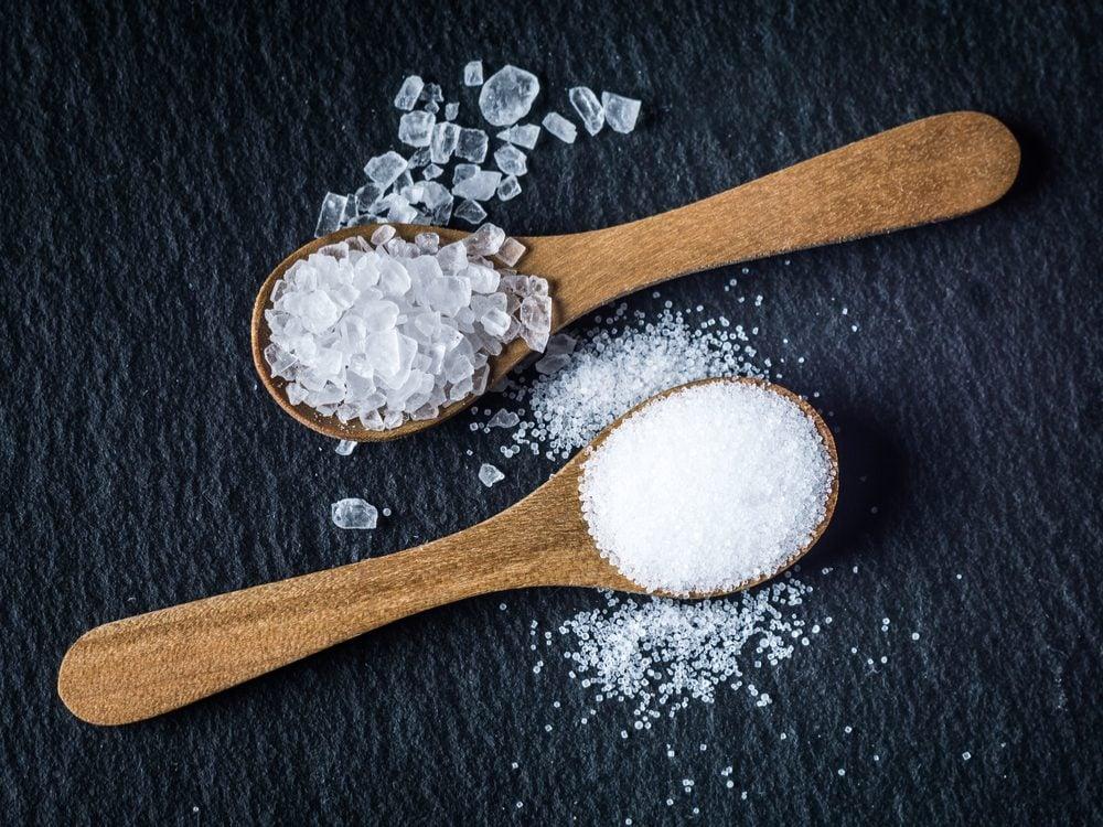 Rock salt and table salt