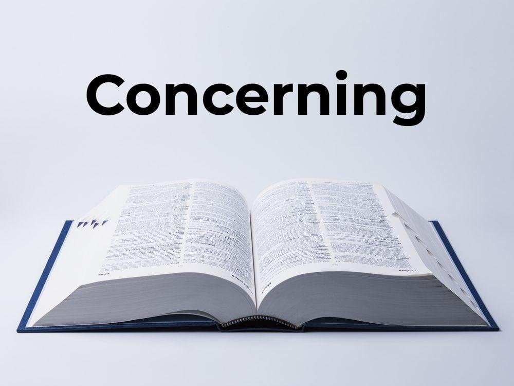 Concerning