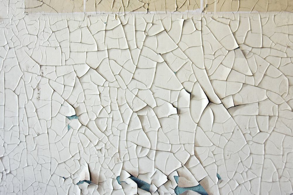 Peeling paint grunge wall texture. Abstract background.