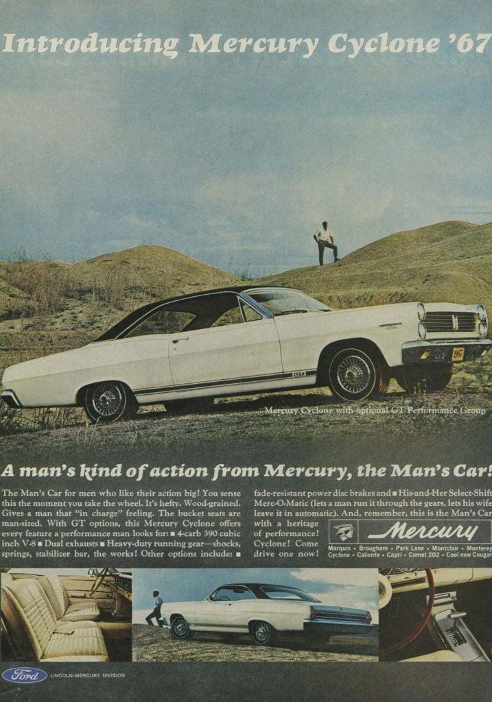 '67 mercury cyclone ad