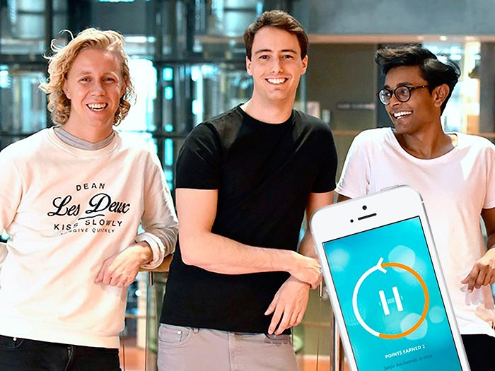 The inventors with their app to reduce smartphone use