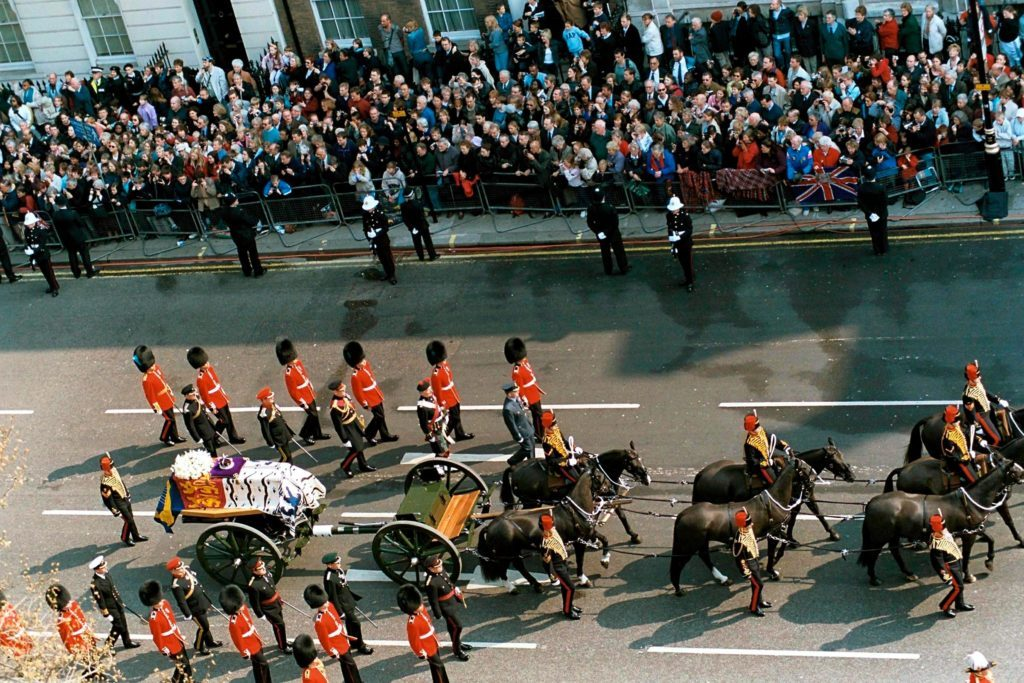Royal Funeral Procession Queen Mother's