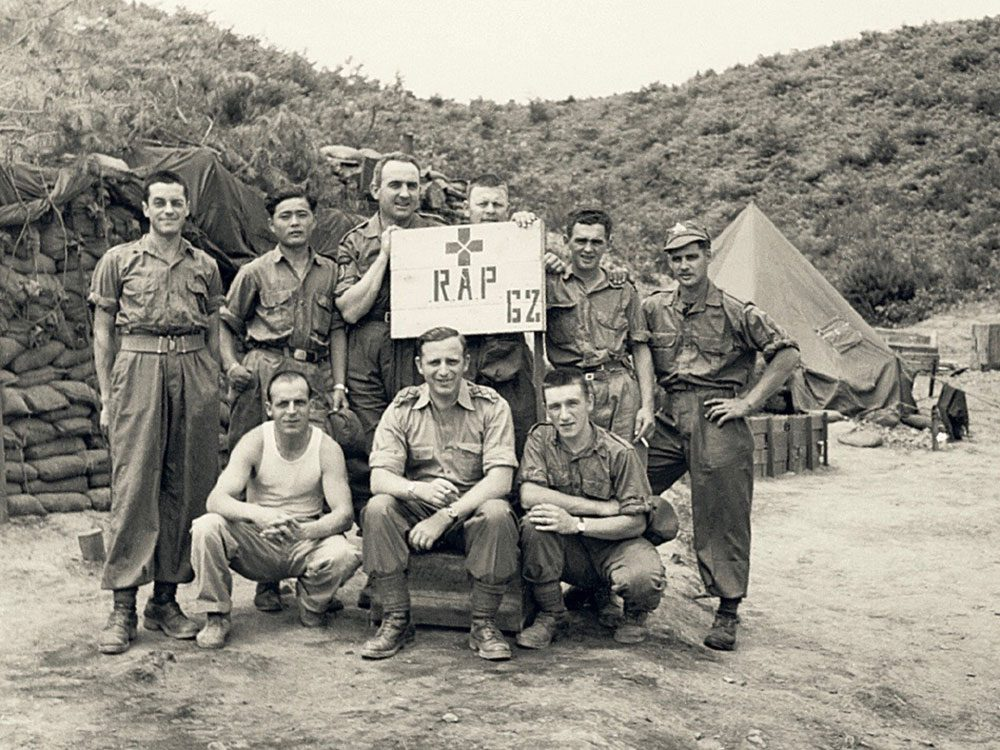 Alphonse Pelletier and his medical team in Korea