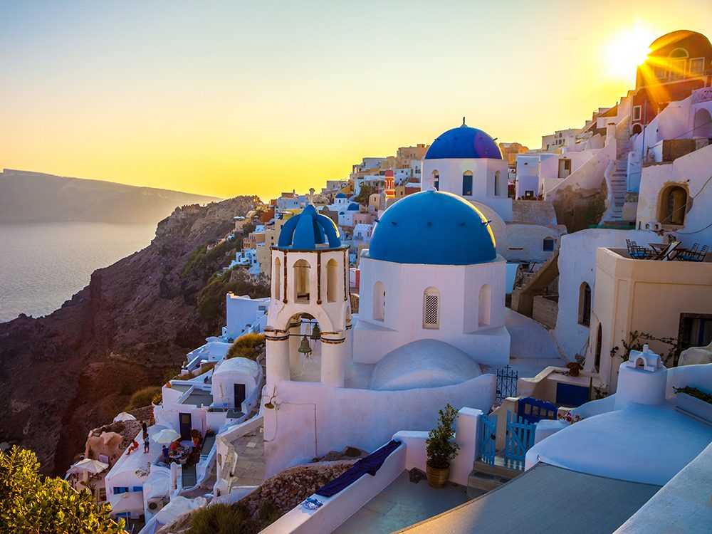 Best small islands: Santorini, Greece
