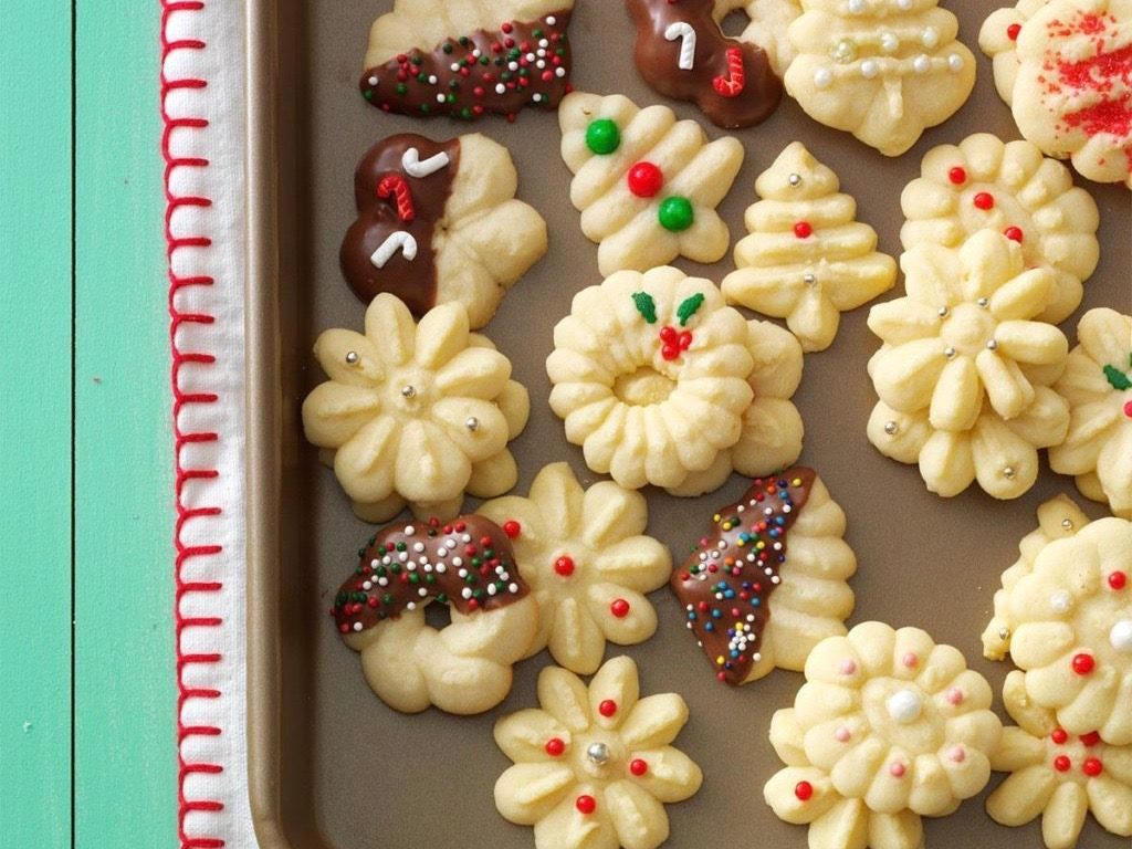 Buttery spritz cookies