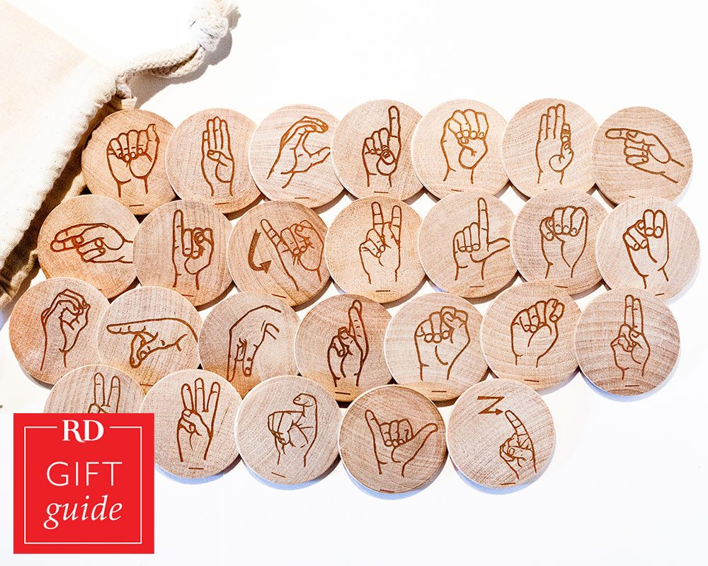 Canadian Gift Guide - American Sign Language flash cards Tree Fort Toys Etsy