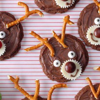 Chocolate Reindeer Cookies