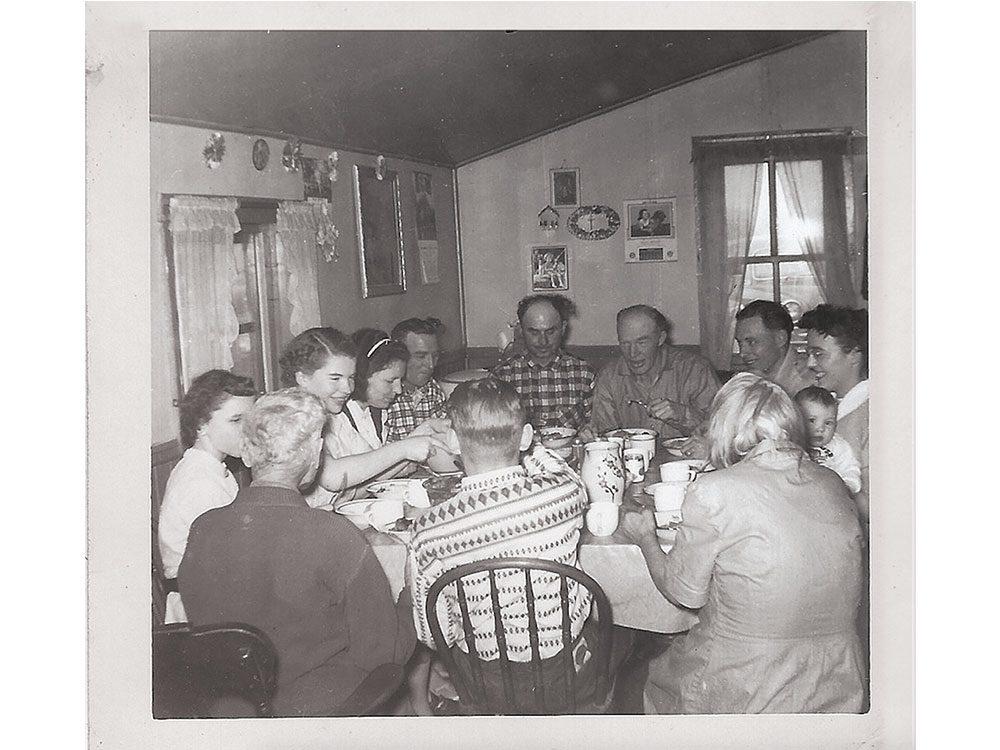 Zelinski family dinner in 1956