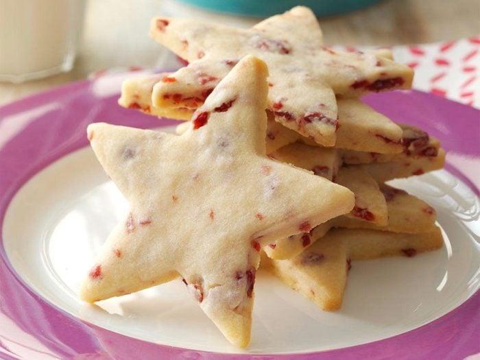 Cranberry shortbread stars