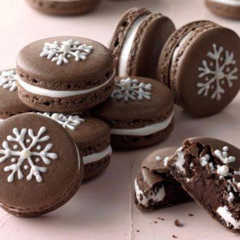 French Christmas Macarons