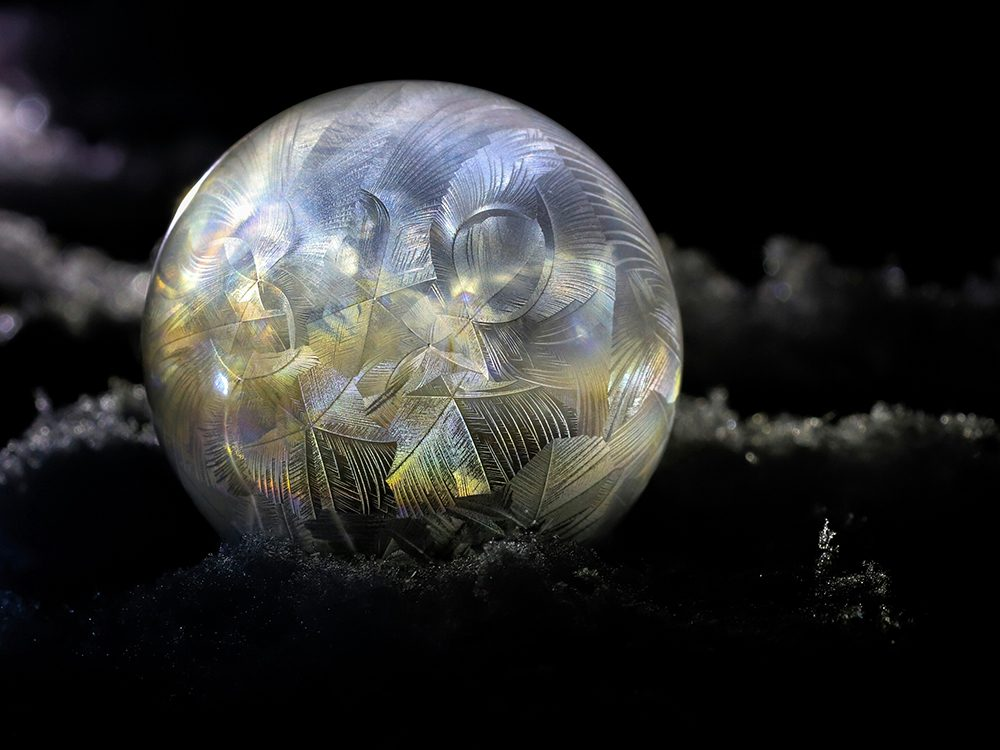 Frozen bubbles photography
