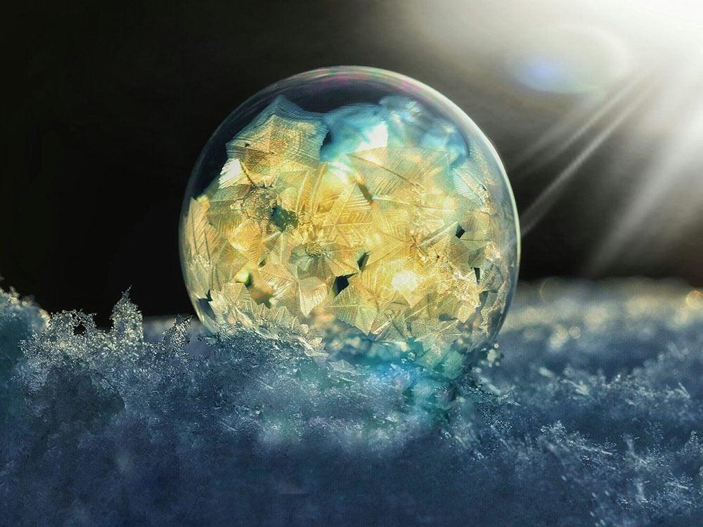 Frozen bubbles photography