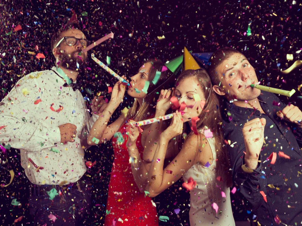 Friends celebrating the new year