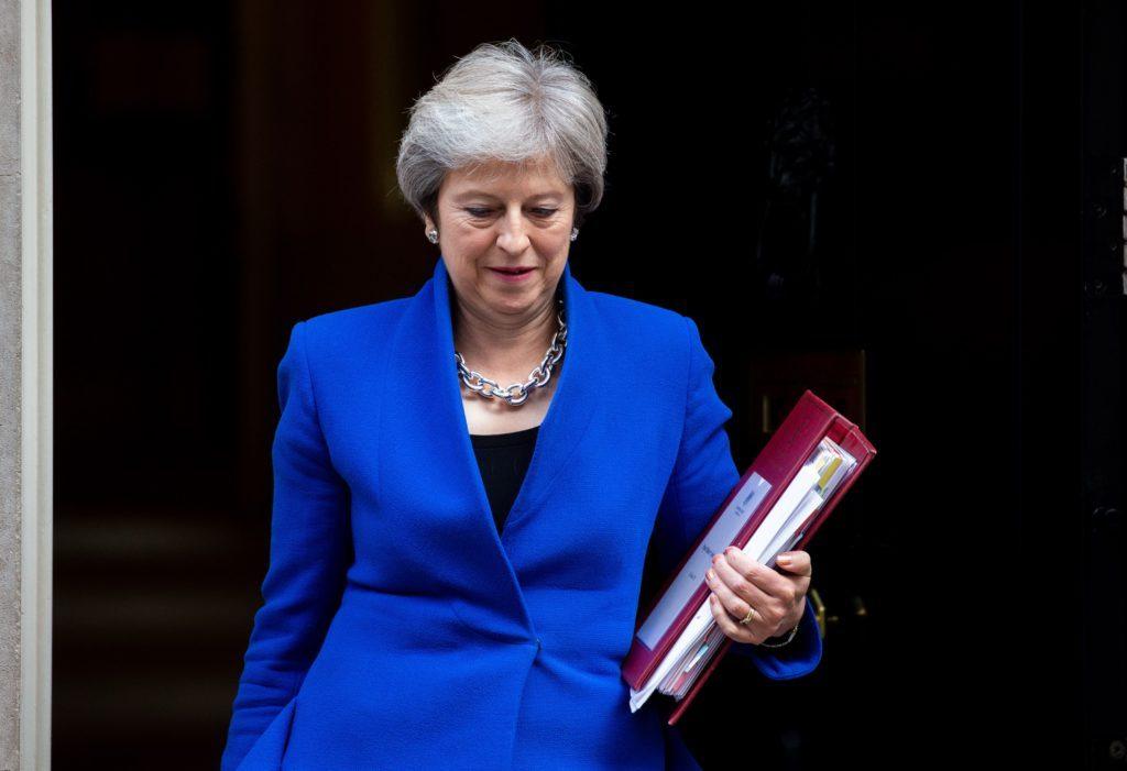 Theresa May, Downing Street, London, UK-24 Oct 2018
