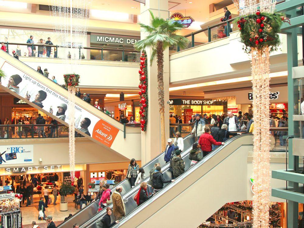 Shopping mall in New Brunswick