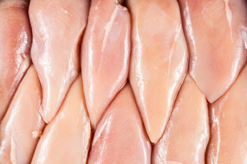 Chicken breast fillet background.Fresh Boneless and Skinless Chicken Breast Fillets.