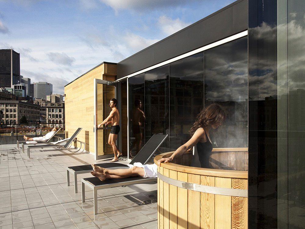 Bota Bota contemporary spa in Montreal