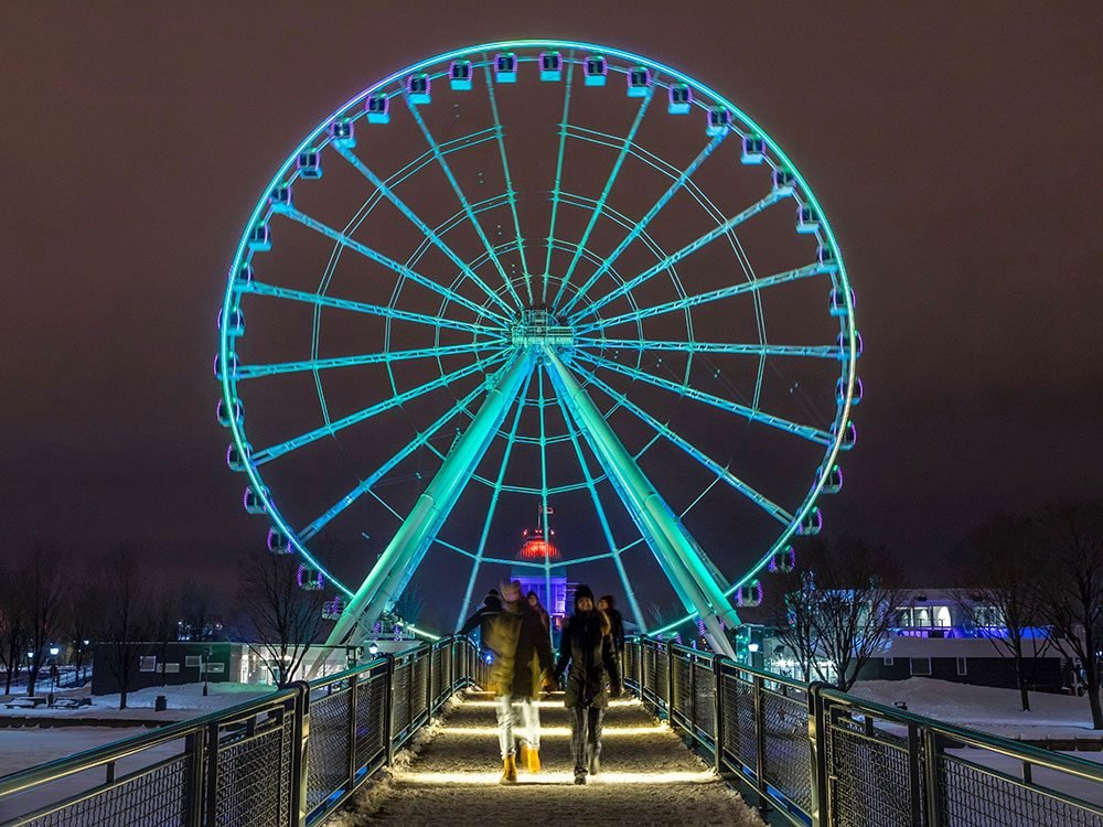 Montreal Observation Wheel at night