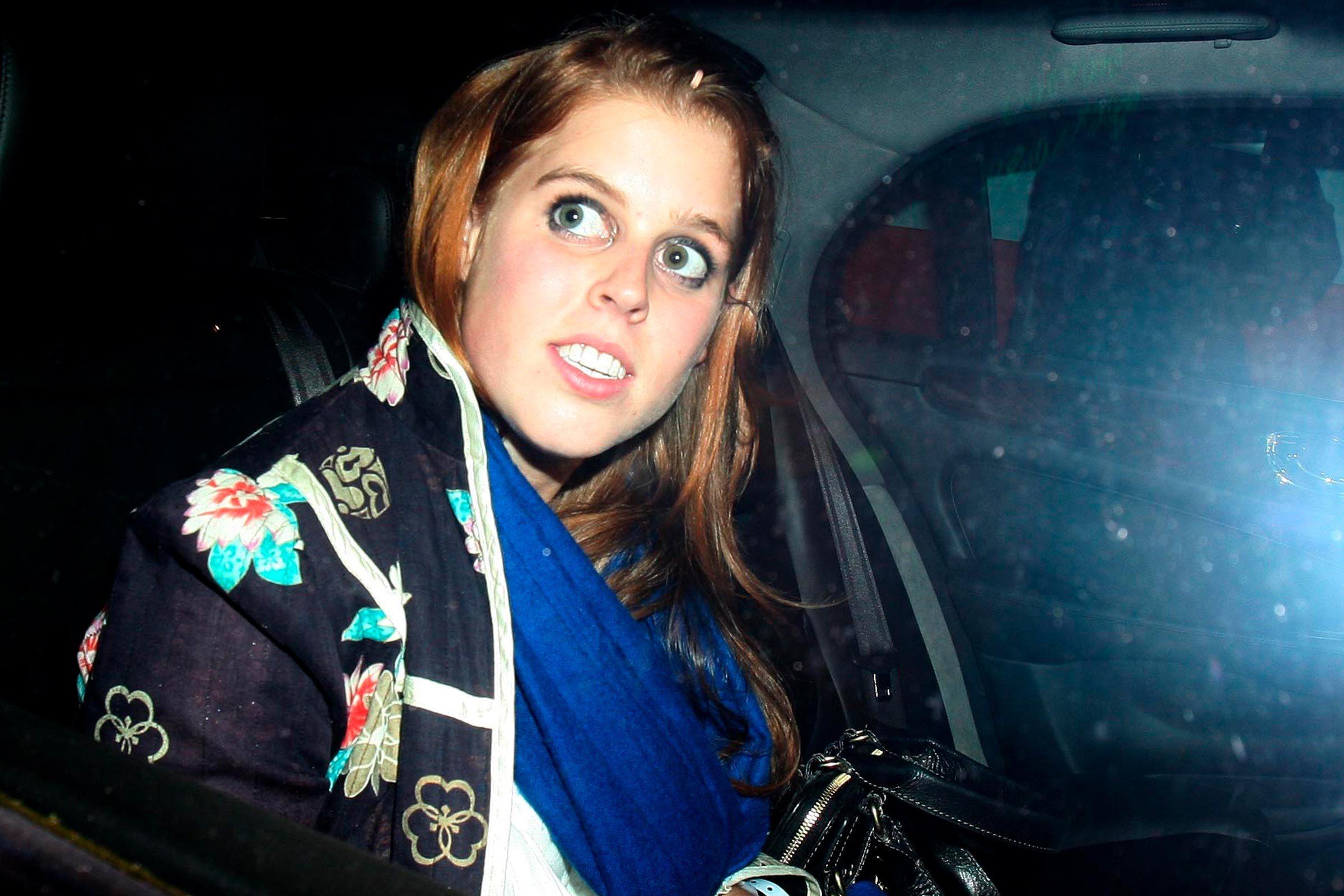 Princess Beatrice in car