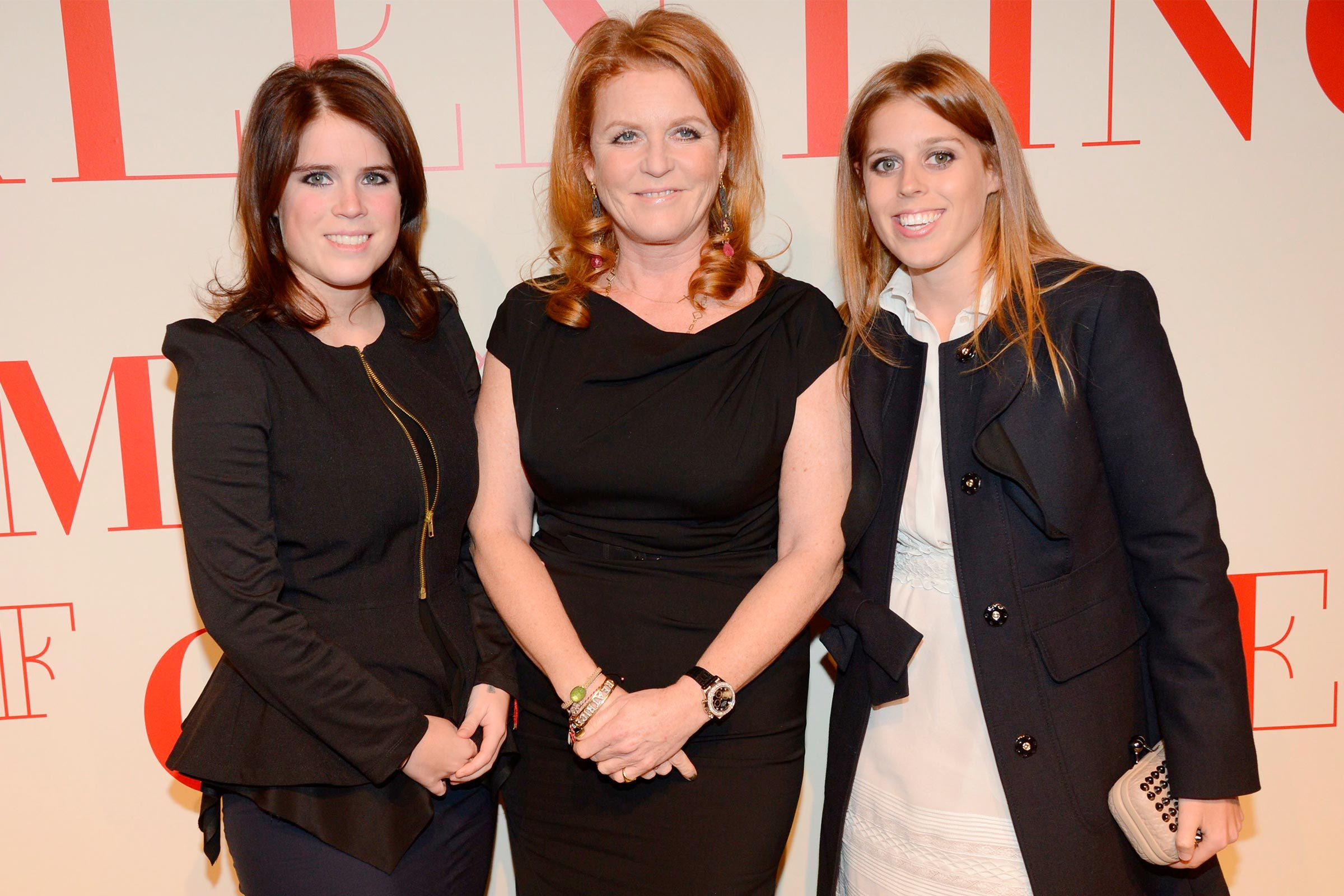 Sarah Ferguson and her daughters, Princess Eugenie and Princess Beatrice