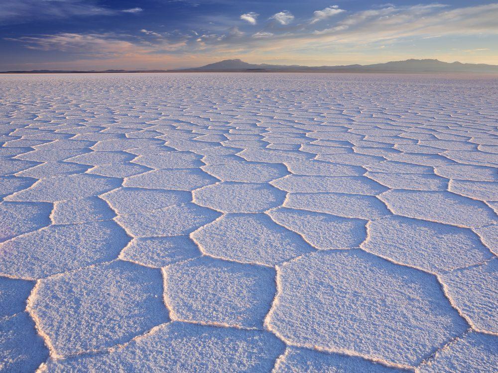 Salt flats in Bolivia