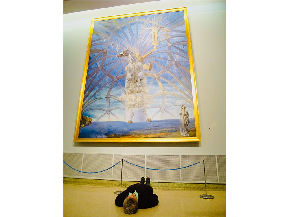 Salvador Dali painting in Fredericton, New Brunswick museum