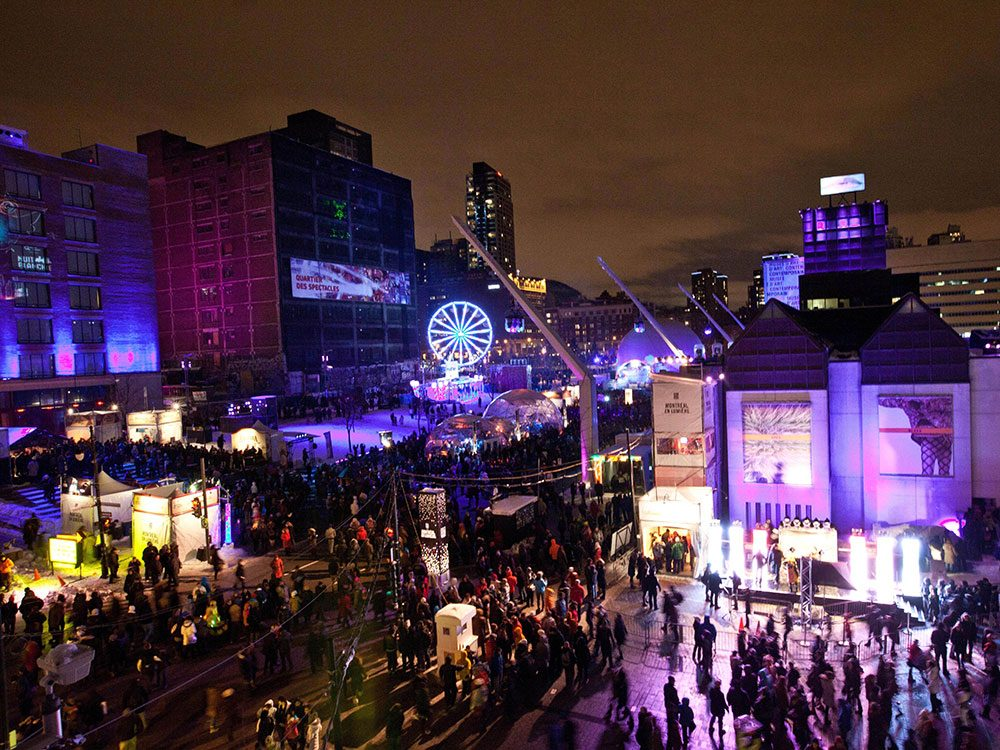 Nuit Blanche Festival in Montreal, Quebec