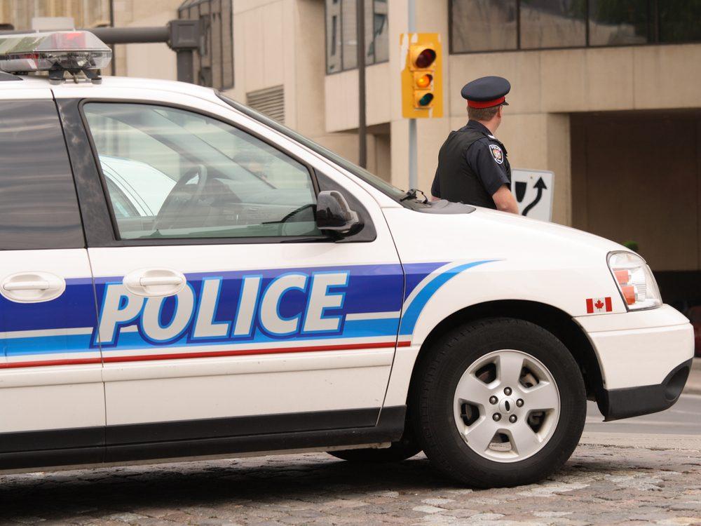 Traffic cop in Ottawa, Ontario