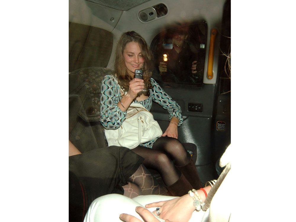 Kate Middleton drunk in a taxi