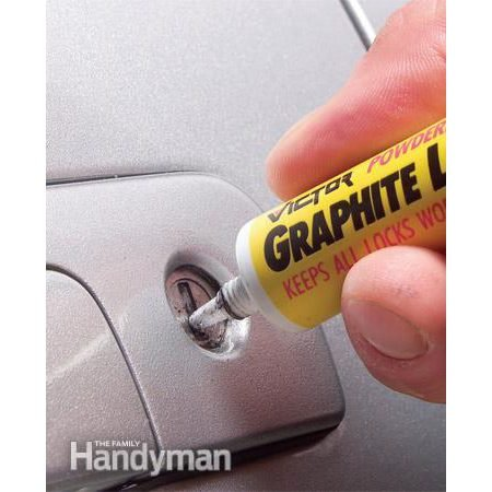 Lubricate car door locks