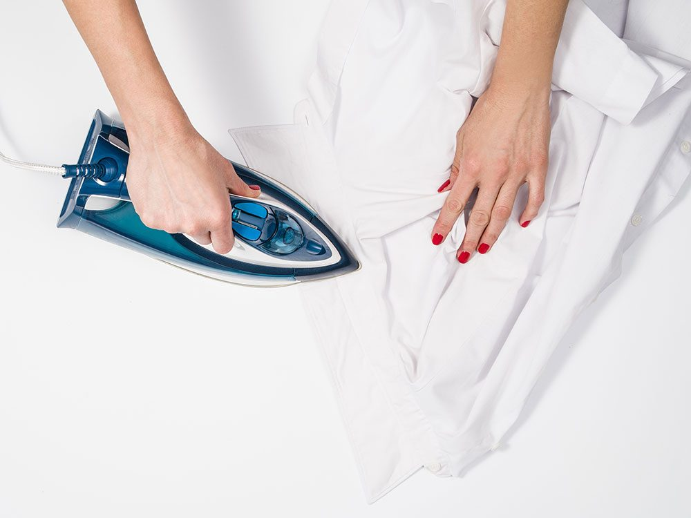 Uses for sandpaper - hold pleats while ironing